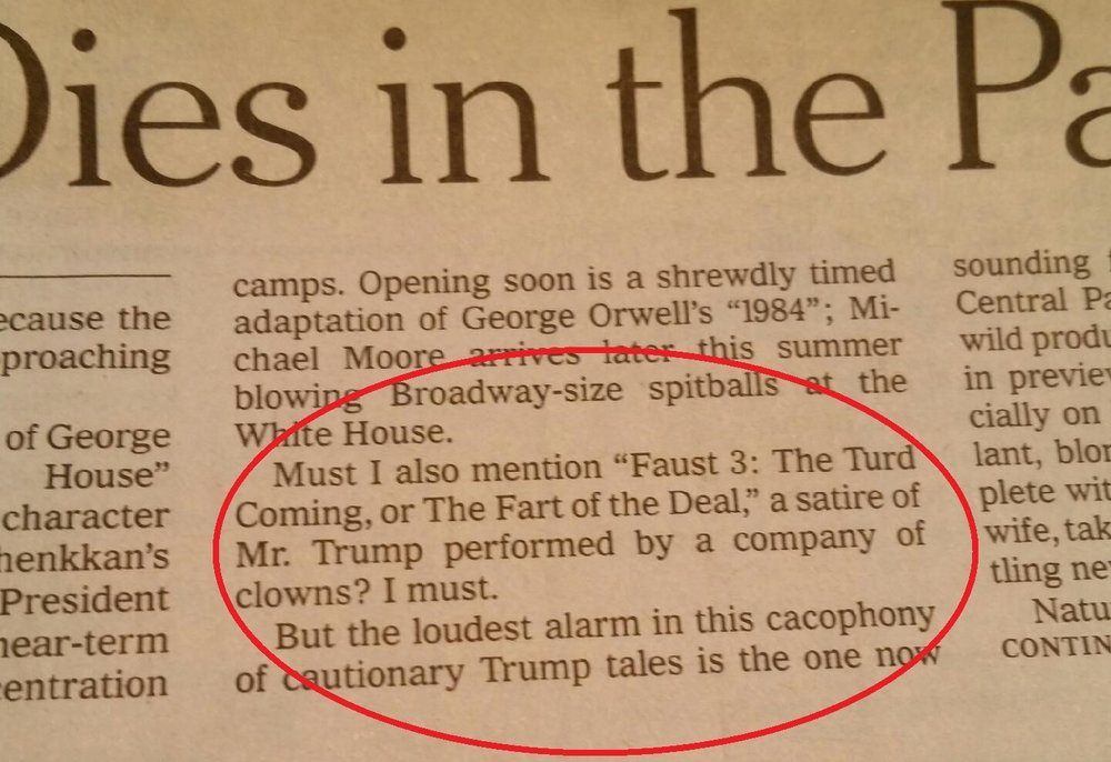 New York Times, Faust 3 feature
