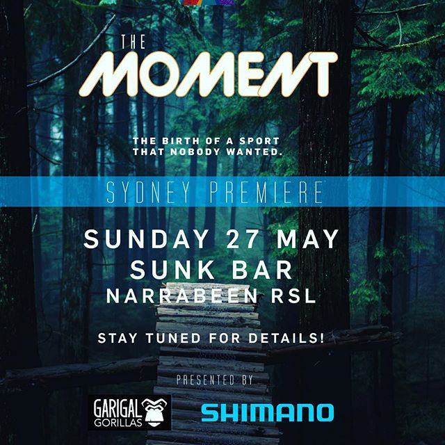 Australia! We comin' for ya. The Sydney premier of The Moment is happening May 27th! We hope to see you there @shimanoaustralia