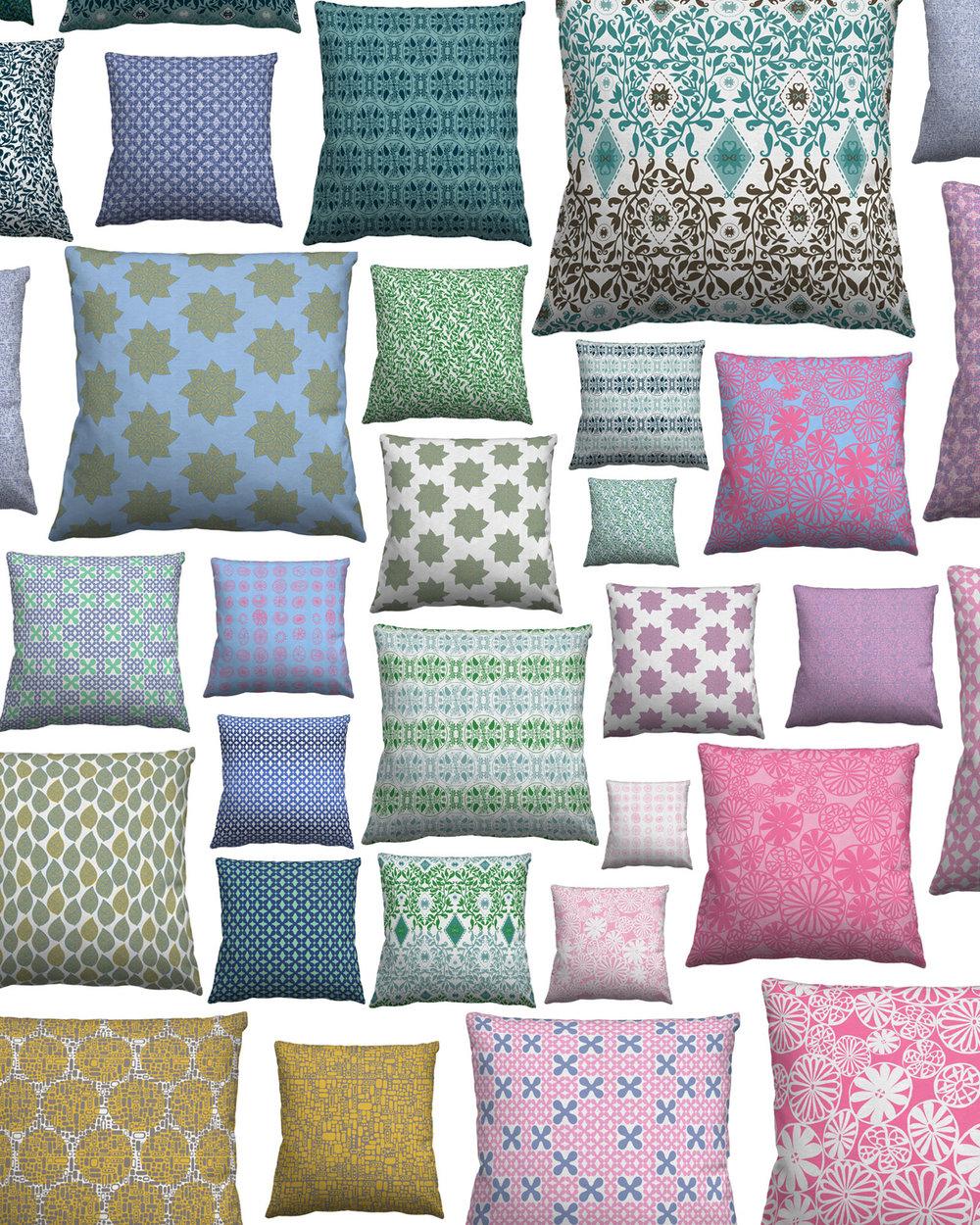 a mix of fabrics