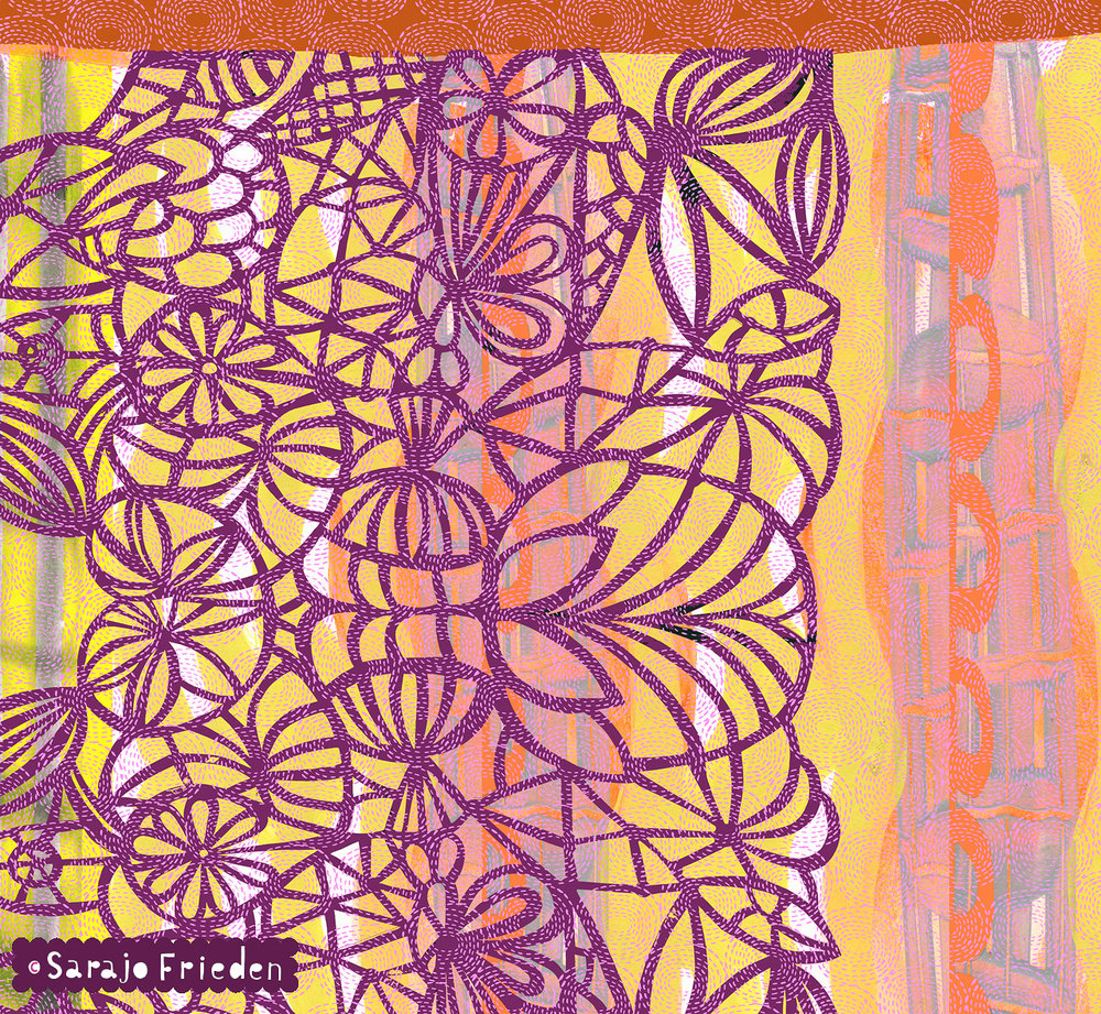 cutpaper with circle purple