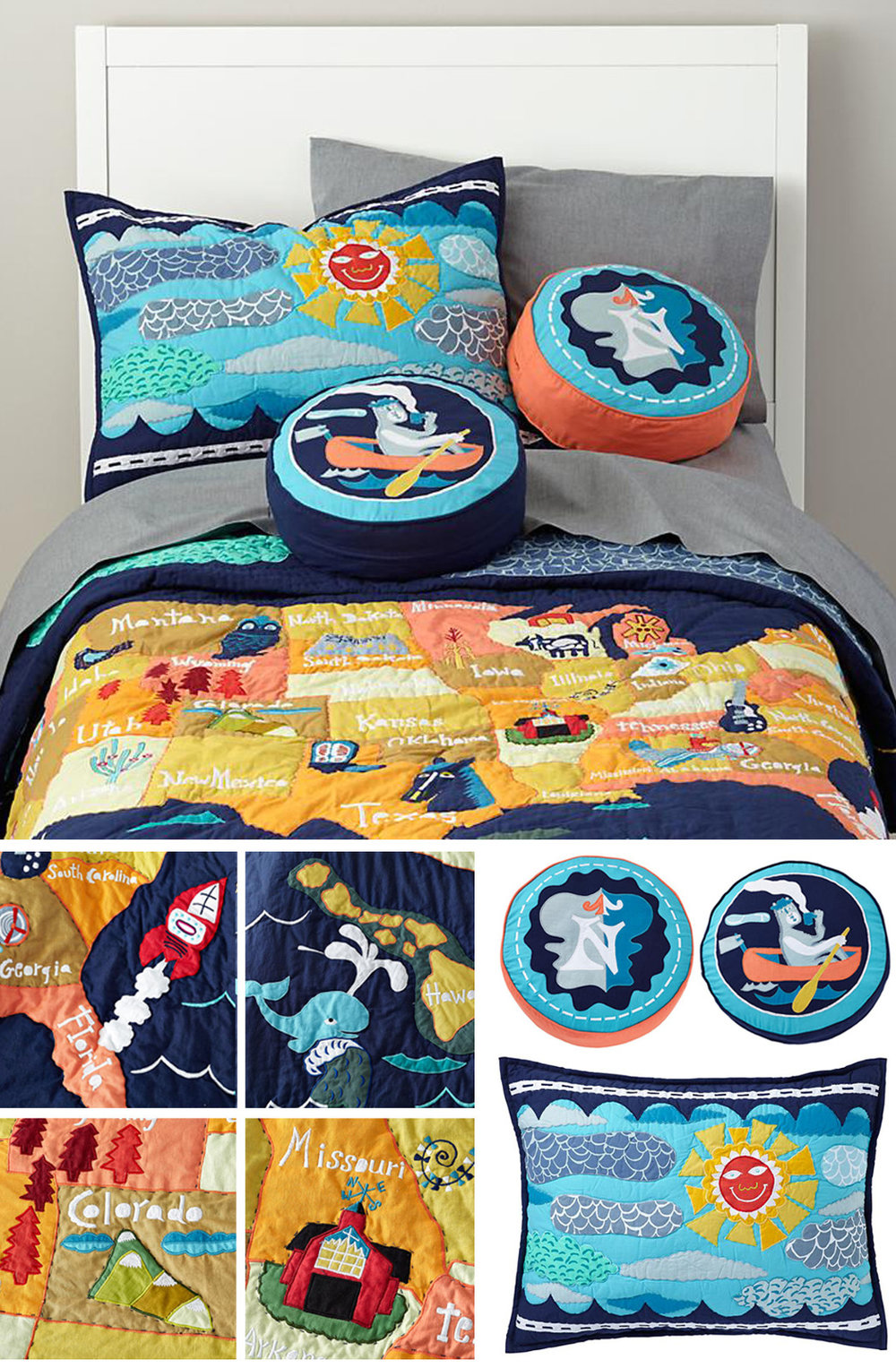 """Copy of New """"Interstate"""" bedding for Land of Nod"""
