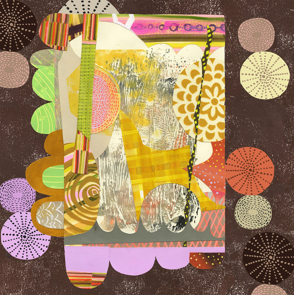 Collage and digital for custom textile