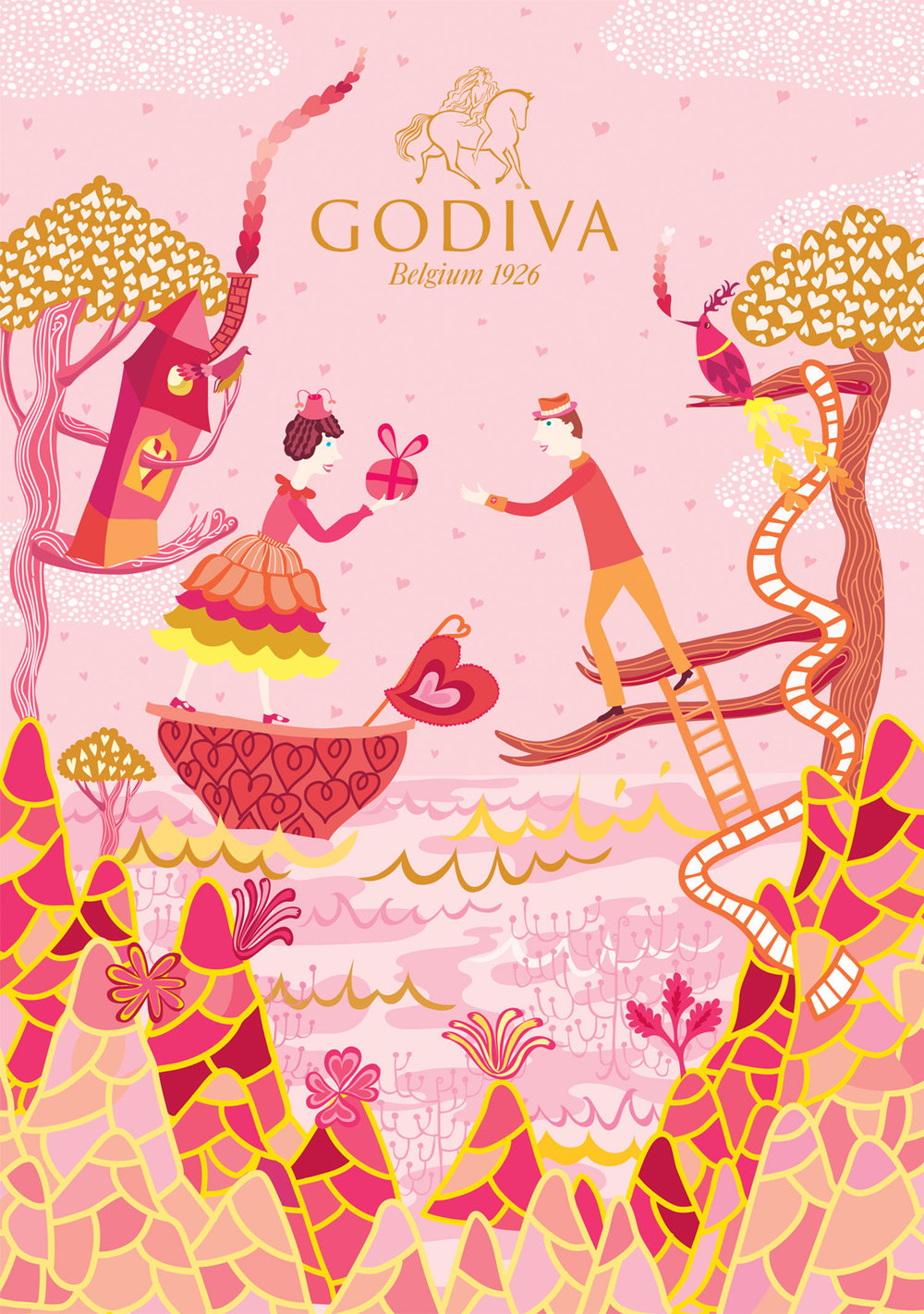Godiva Valentine's Day & White Day Packaging