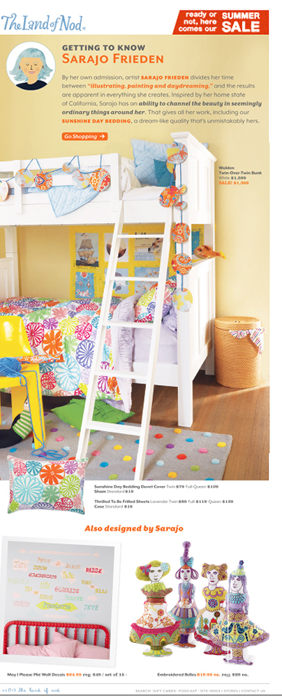 Featured at Land of Nod...