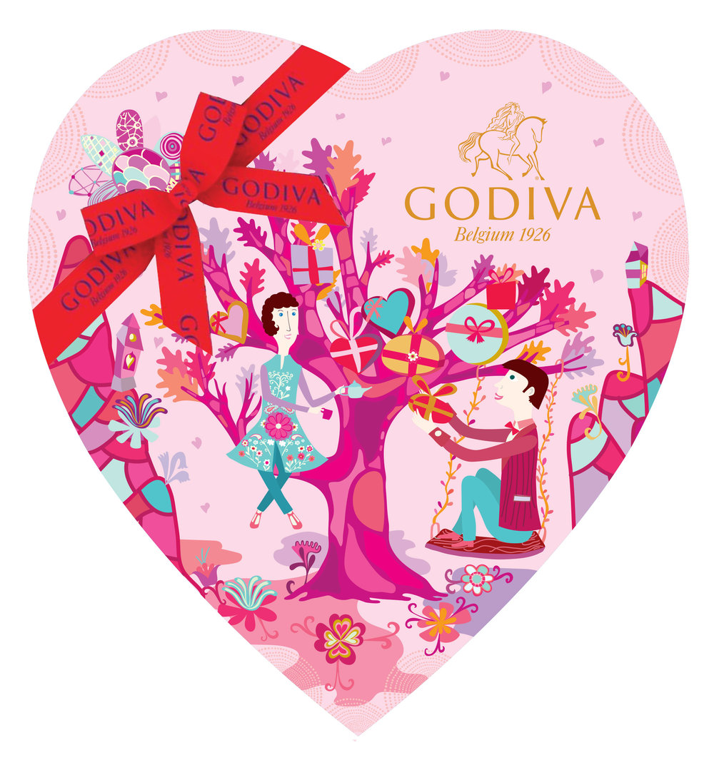Godiva Chocolate Valentine's Day Packaging