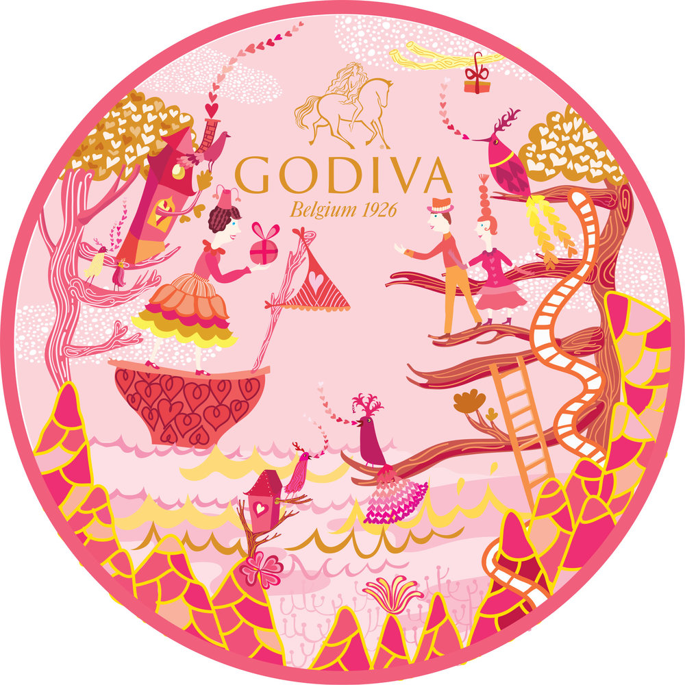 Godiva Valentine's Day packaging
