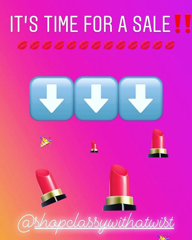 Hey My Loves!!! I owe you guys big time and a sale is well over due!!! SOOOOOO ALL LIQUID MATTE LIPPIES ARE $12 and ALL LIP GLOSSES ARE $10. The complete LIP GLOSS SET IS ONLY $40 for a limited time only! Head over to www.classywithatwist.com by using the link in bio! HAPPY SHOPPING BABES‼️💋💋💋💋💋 . .  #ClassyWithATwist #GirlBoss #LipstickLover #CharlotteMua #PositiveVibesOnly #Empower #Cltmakeup #Inspire #ShopWithMe #Peace #Happiness #BuildingABrand #BossUp #Dreamer #Lipstick #LipstickBlog  #LiquidMatte #InstaBeauty #LipstickJunkie #GoalsAf #Queencitymua #Huda #MakeupAddict #HudaBeauty #LipstickOfTheDay #LipstickLoversWorldWide #MakeupBlogger