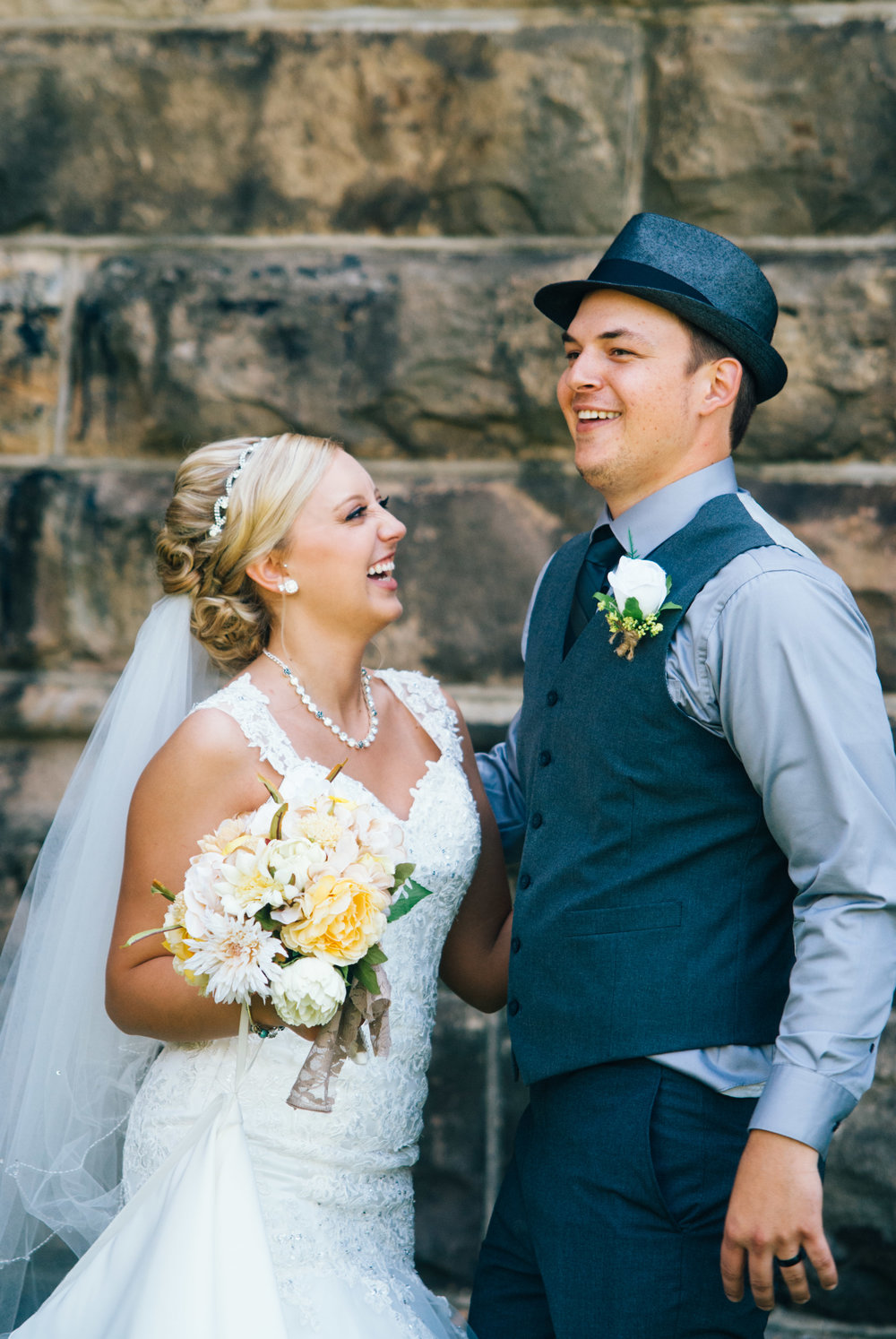 Fedora and Suspenders Wedding