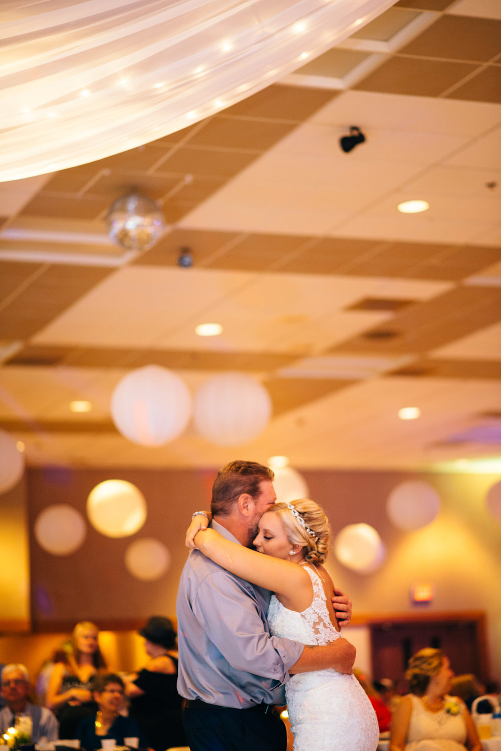 Father daughter dance during wedding reception at Carrolltown Fire Co. Banquet Hall