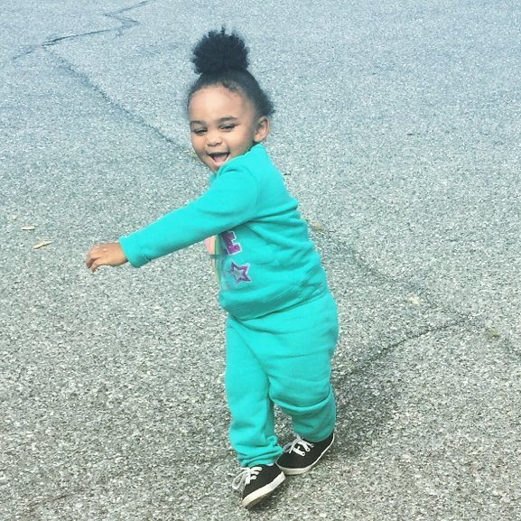 Amani about to start day care next week w/ #ladyswag