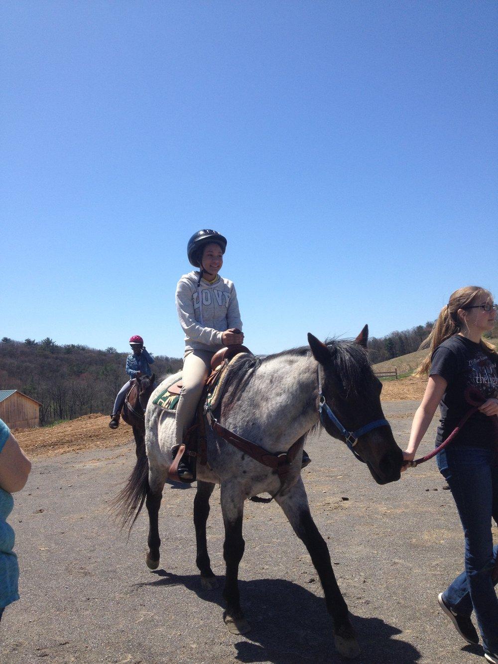 Jalasia Riding a Horse at PR.JPG