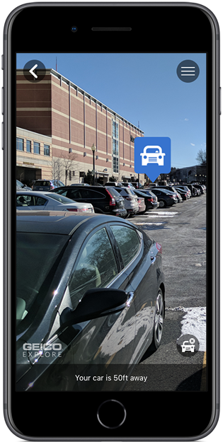 Find Your Car Feature  Marking your car to find later was something brand new to the GEICO app.