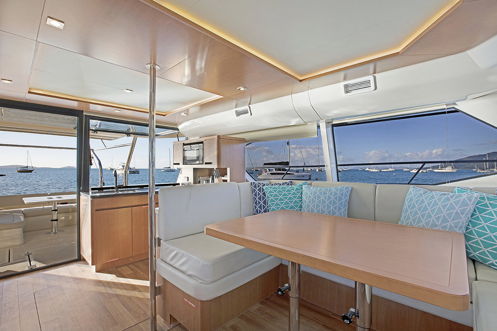 Champagne Sunset Saloon, Aquila 44 - Luxury Yachts Whitsundays