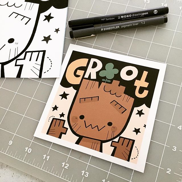 GROOT! Our illustration program at @columbiachi is teaming up with @marvel + @alliedim to celebrate 10 years of MCU. #ic3infinitywar #infinitywar #columbiacollegechicago #illustrationccc @illustrationccc #groot