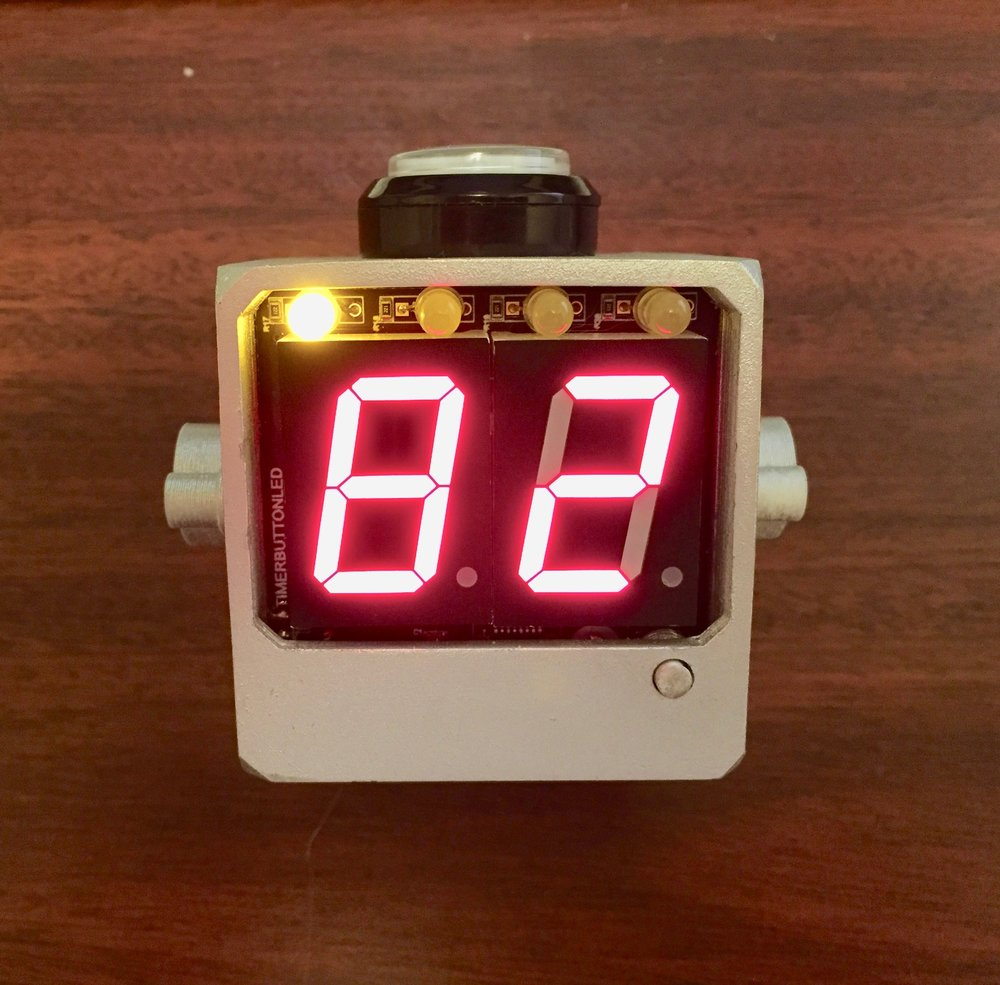 Galaxy Trucker Timer - This is an electronics project that replaces the cheap plastic hourglass included in the board game Galaxy Trucker. It counts down from 90 a certain number of times, indicating the time left to assemble a spaceship from junkyard parts.This presentation walks through the software, the electrical schematic, the printed circuit board, and the modeling and 3D printing of the enclosure.