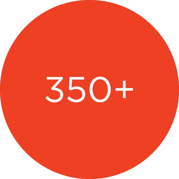350+ Members