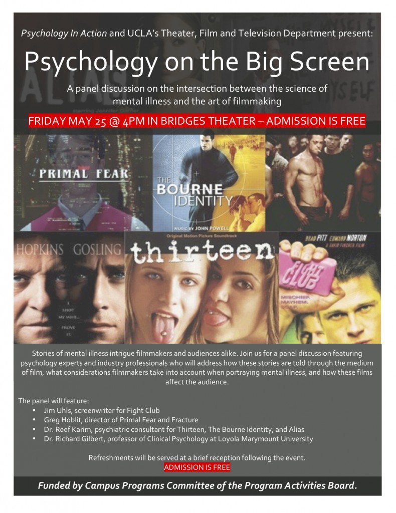 Poster for 'Psychology on the Big Screen' Panel