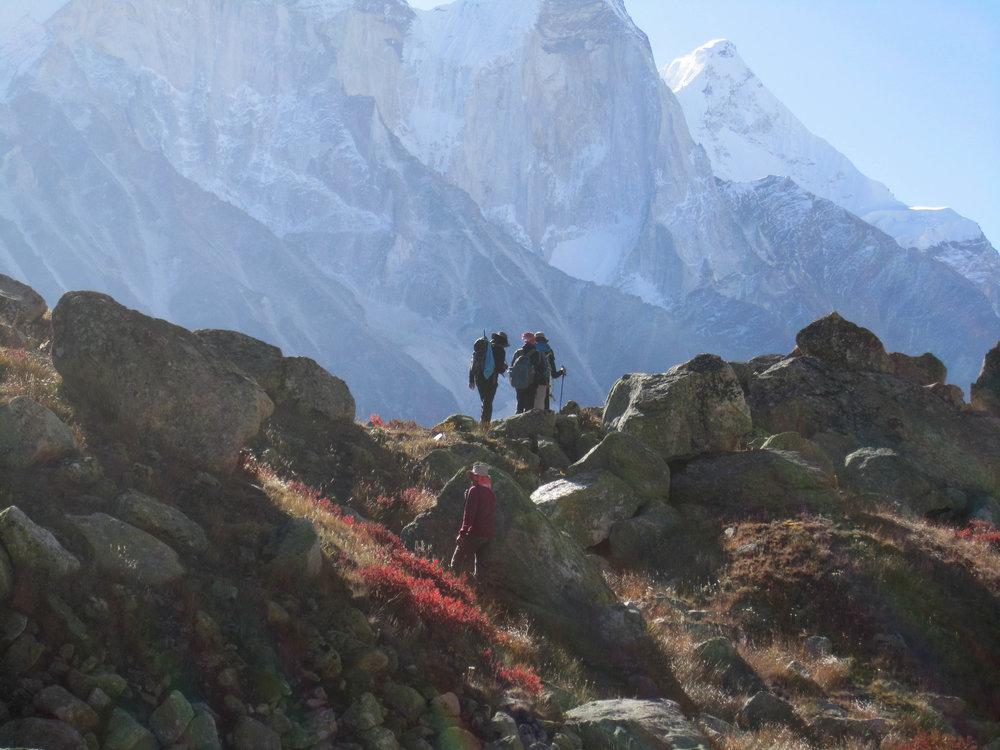 Trekkers at Tapovan