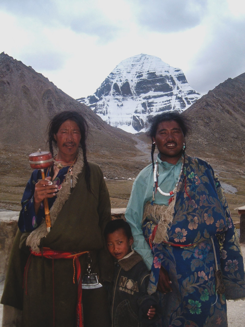Tibetan Men & Child at Mt. Kailash