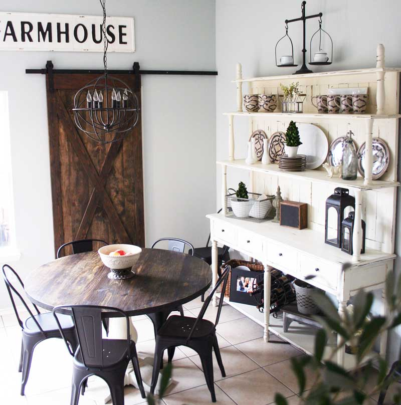 L E Farmhouse Table Hutch