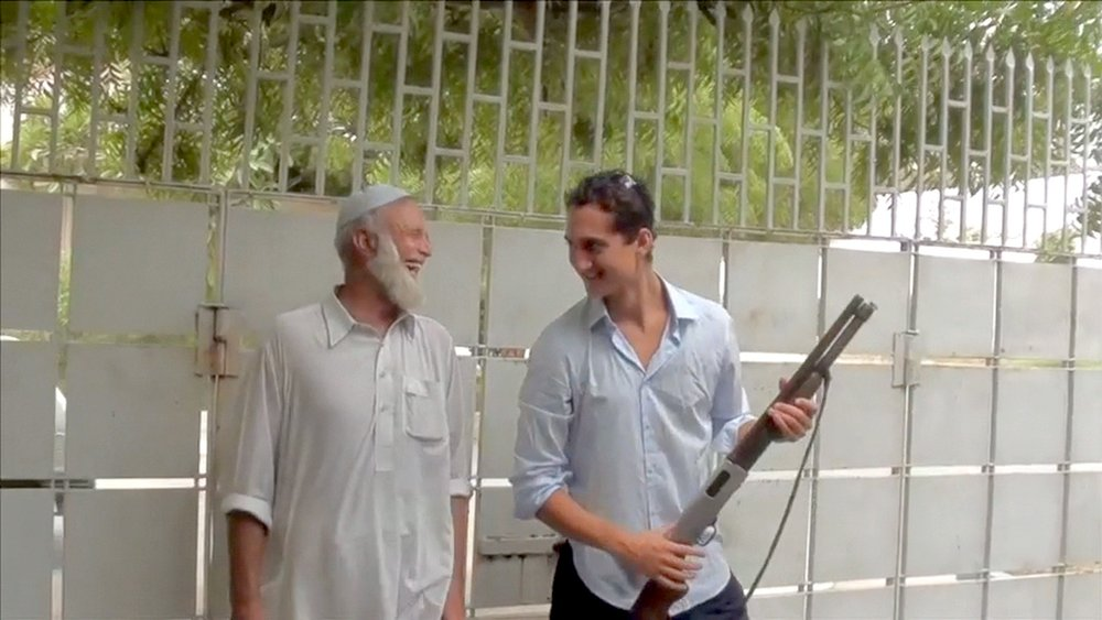 Adam and Aurangzeb in Karachi, c. 2011.