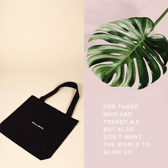 🚫‼️ Dear @colessupermarkets; since you refuse to #banthebag we have created these Cloth Tote bags for your customers and would appreciate you pointing them in our direction rather than giving them heavy duty plastic bags so they can look trendy a.f. whilst carting their consumerables home. Kind regards, Ahimsa Collective.  Online, now. #ahimsacollective #sustainablefashion #ecofashion