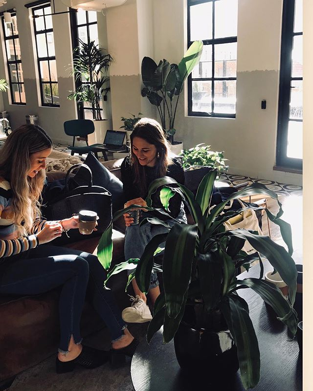 👩🏽‍💻👩🏼‍💻👩🏻‍💻 Spending the day at @wework, surrounded by likemindeds and digital gypsies alike. Man, how lucky we are to live in a generation who rewrites the traditional office hour quos. #ahimsacollective #lovewhatyoudo #sustainablefashion #coworking