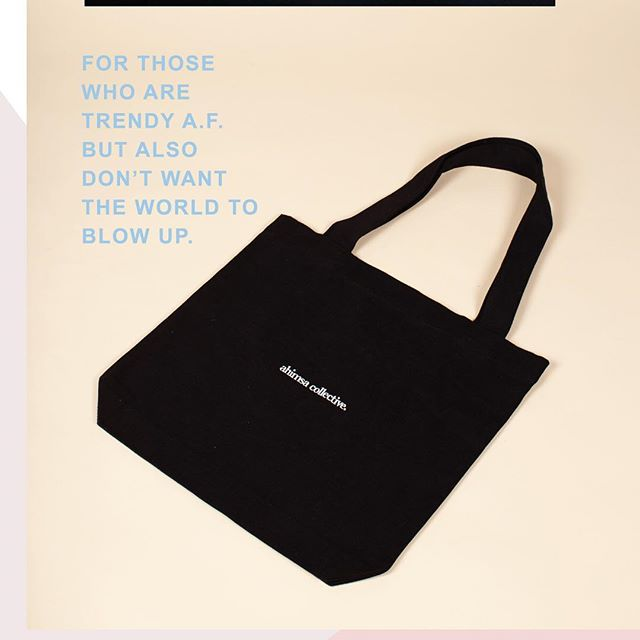 💕🌏🌱 In case you missed it the million times before; this description is the heart and soul as to why we started Ahimsa Collective. - On that note: 📝 Dear @australiangovernment, since you won't #banthebag yourself we've gone ahead and made some cloth totes for the planet's benefit. We know the banter around a cloth tote and what it takes to make one but lemme tell ya - it's far better than the alternative. Plus, it's online now. #ahimsacollective #sustainablefashion #saynotosingleuse #prayforearth