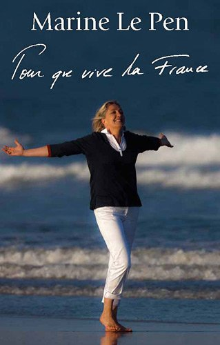 An unlikely vision of Marine Le Pen welcoming migrants who have risked life and limb to cross the Med .