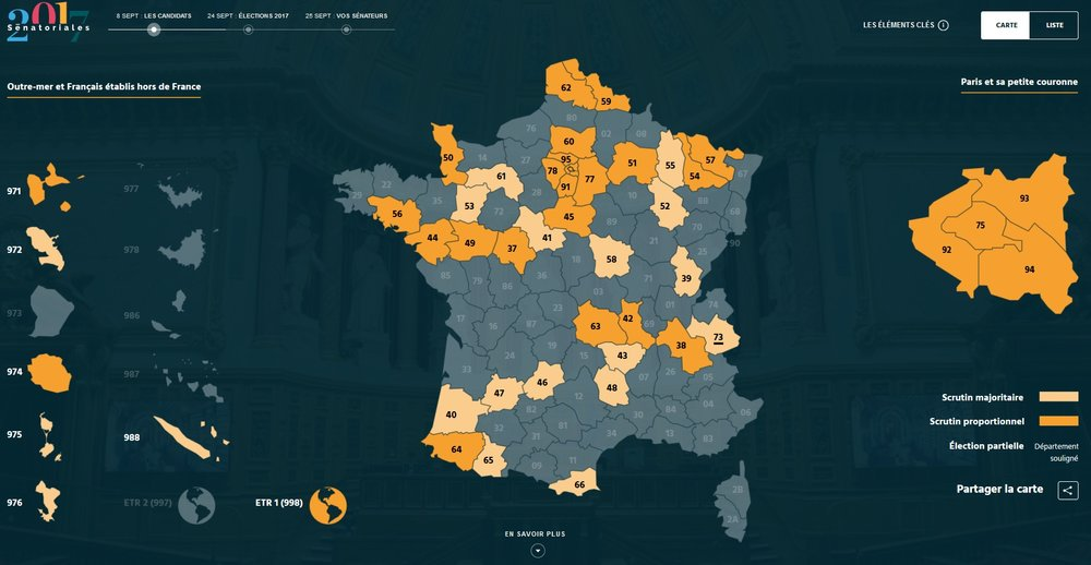 The carte électorale of the 2017 renouvellement - see https://senatoriales2017.senat.fr/