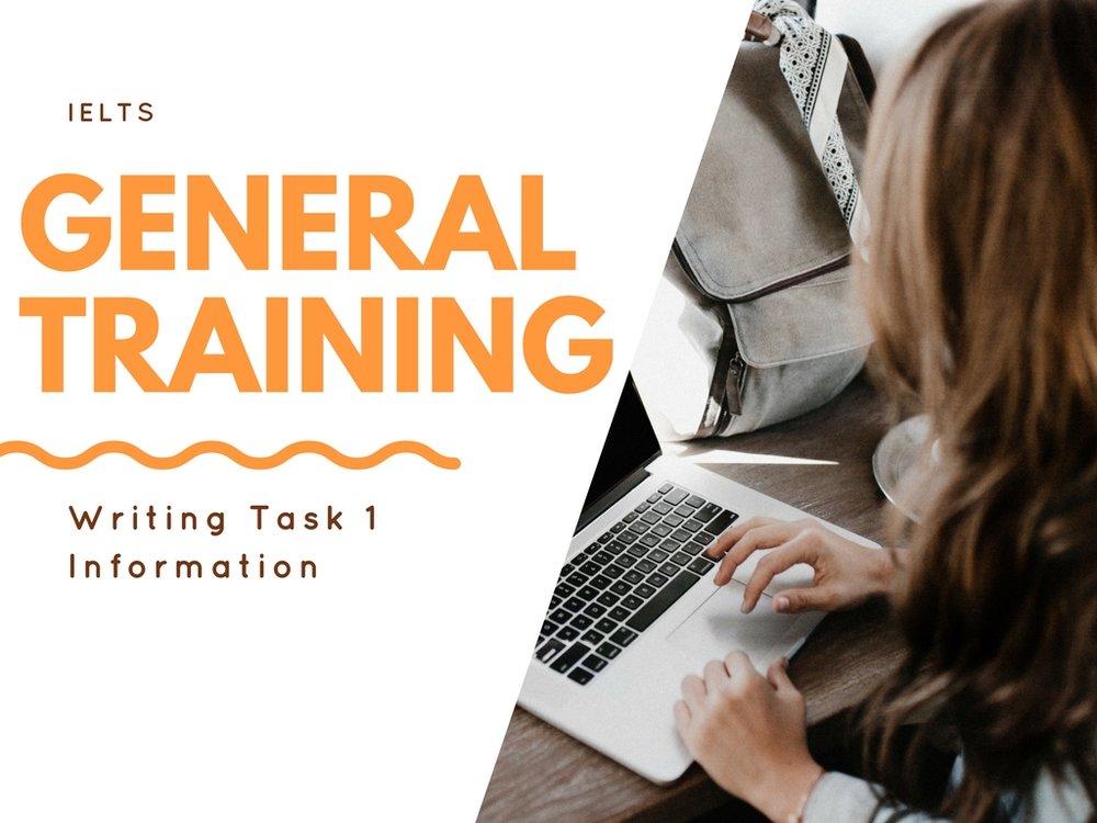 IELTS General Training Writing Task 1
