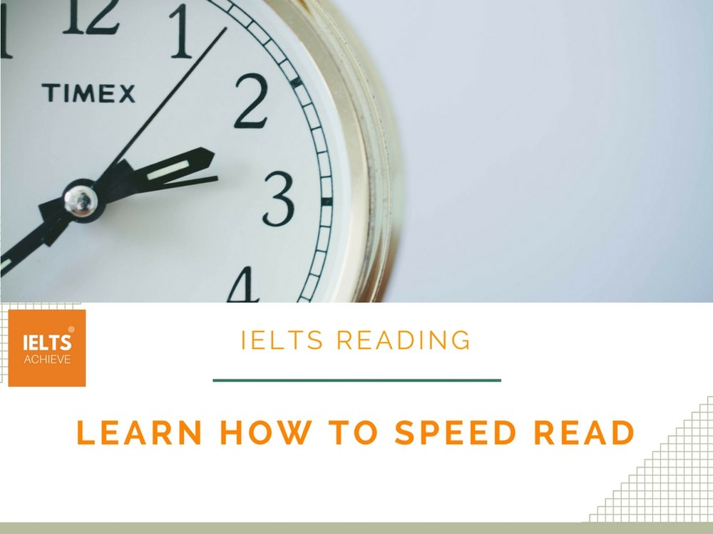learn how to speed read