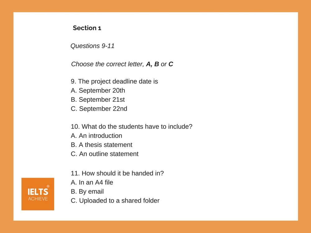 short answer multiple choice question example