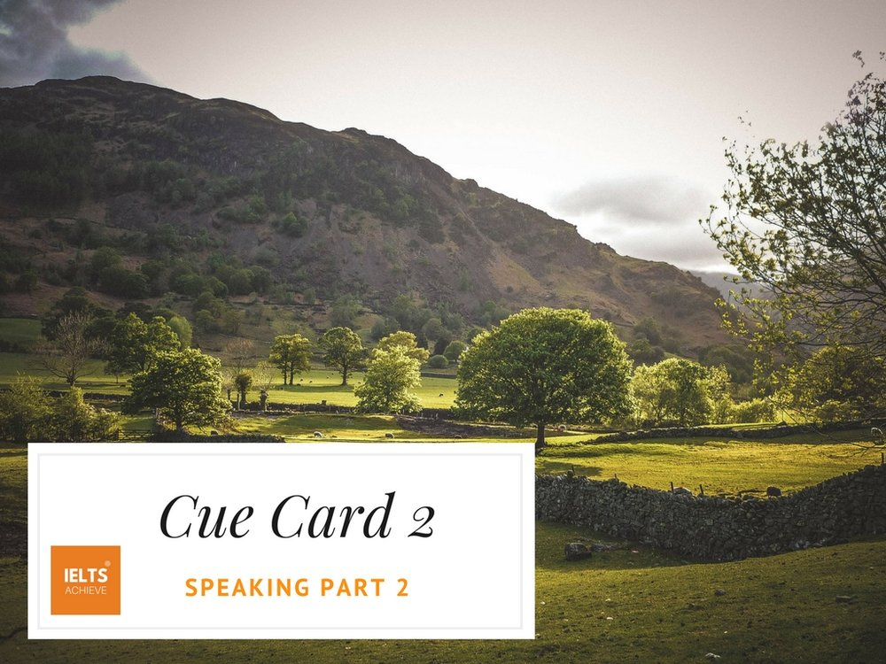 IELTS speaking part 2 cue card a place you visited when you were a child