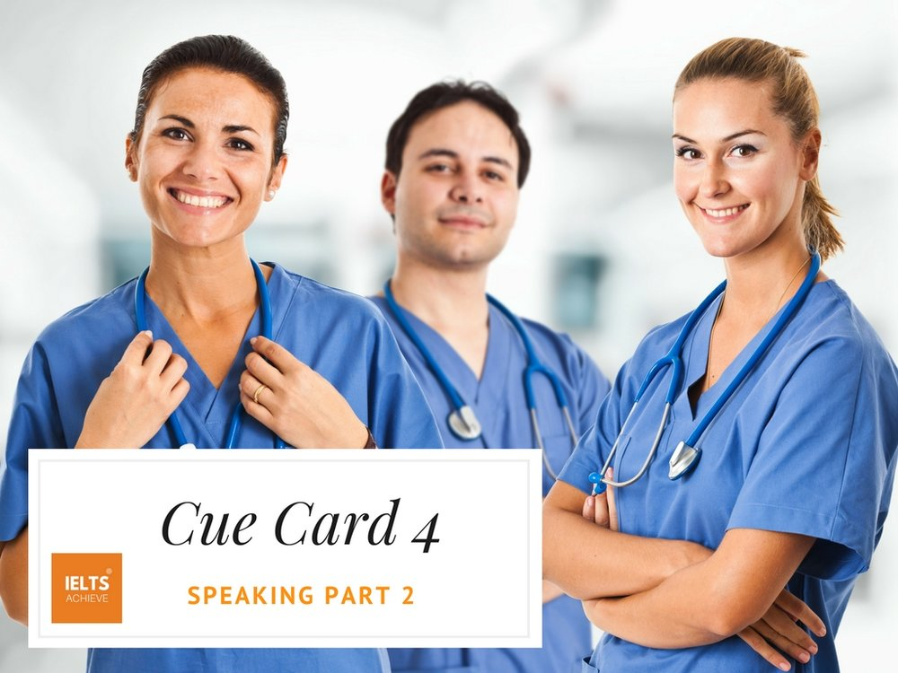 IELTS speaking part 2 cue card about jobs