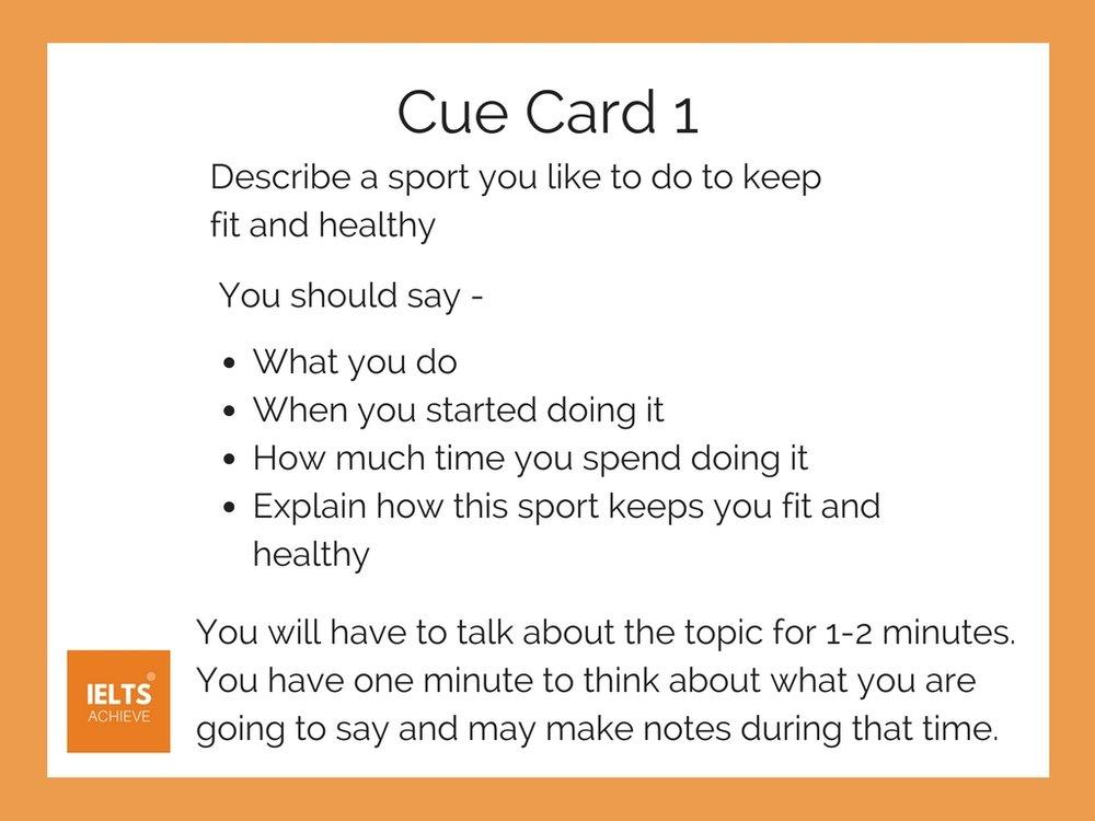 IELTS speaking part 2 cue card about sport