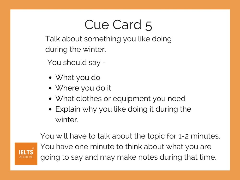 IELTS speaking part 2 cue card