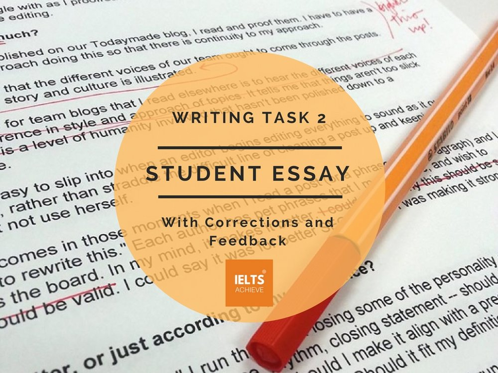 IELS task 2 student essay and feedback