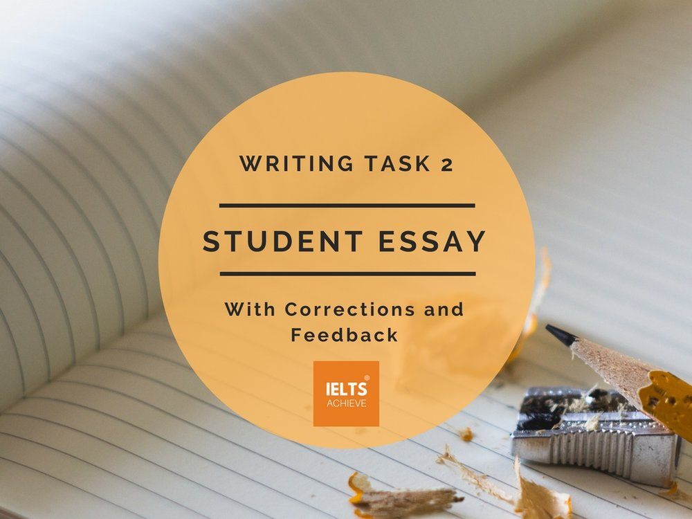 IELTS writing task 2 essay with corrections and feedback