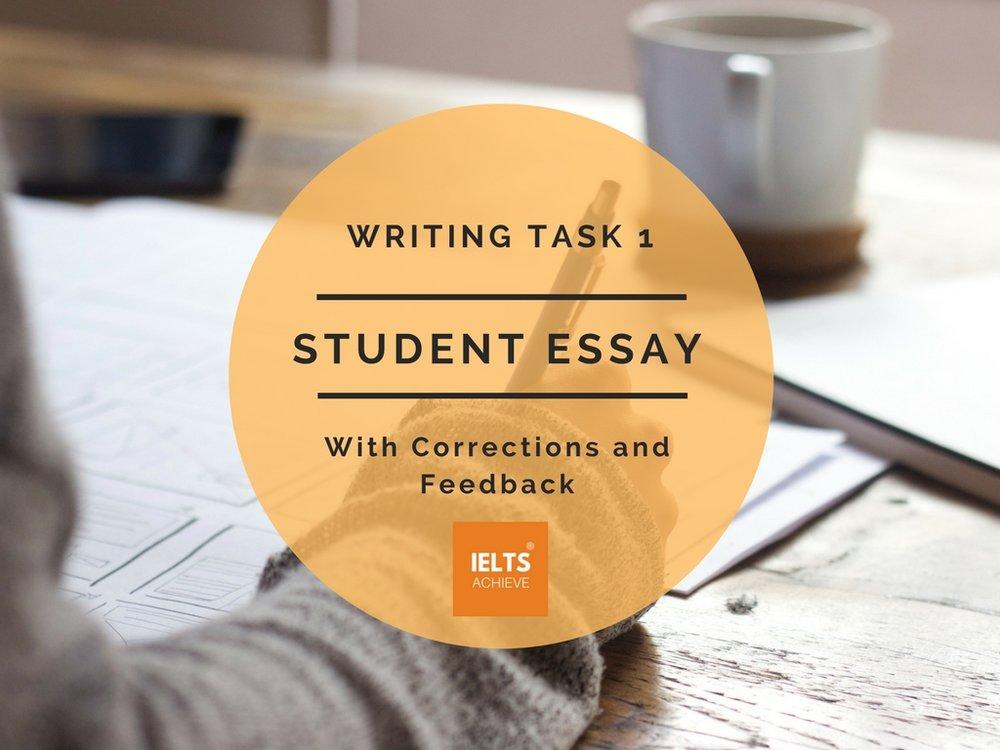 IELTS writing task 1 academic band score 7 student essay