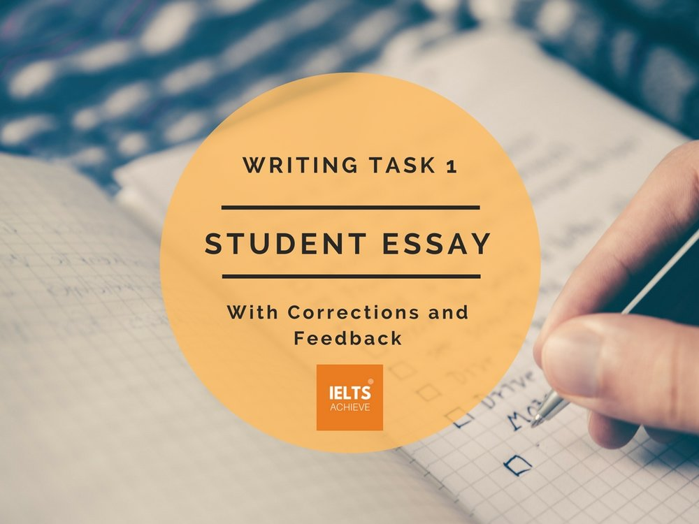 IELTS academic writing task 1 band score 8 student essay