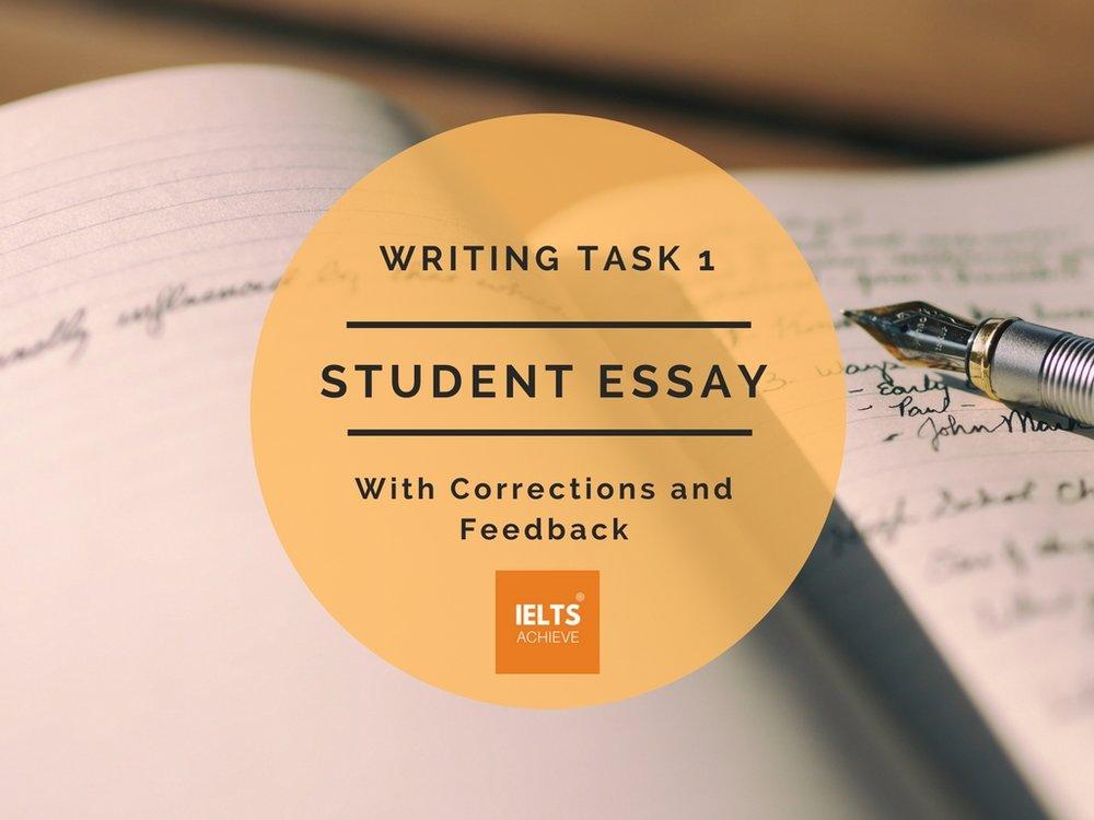 IELTS writing task 1 academic band score 9 student essay