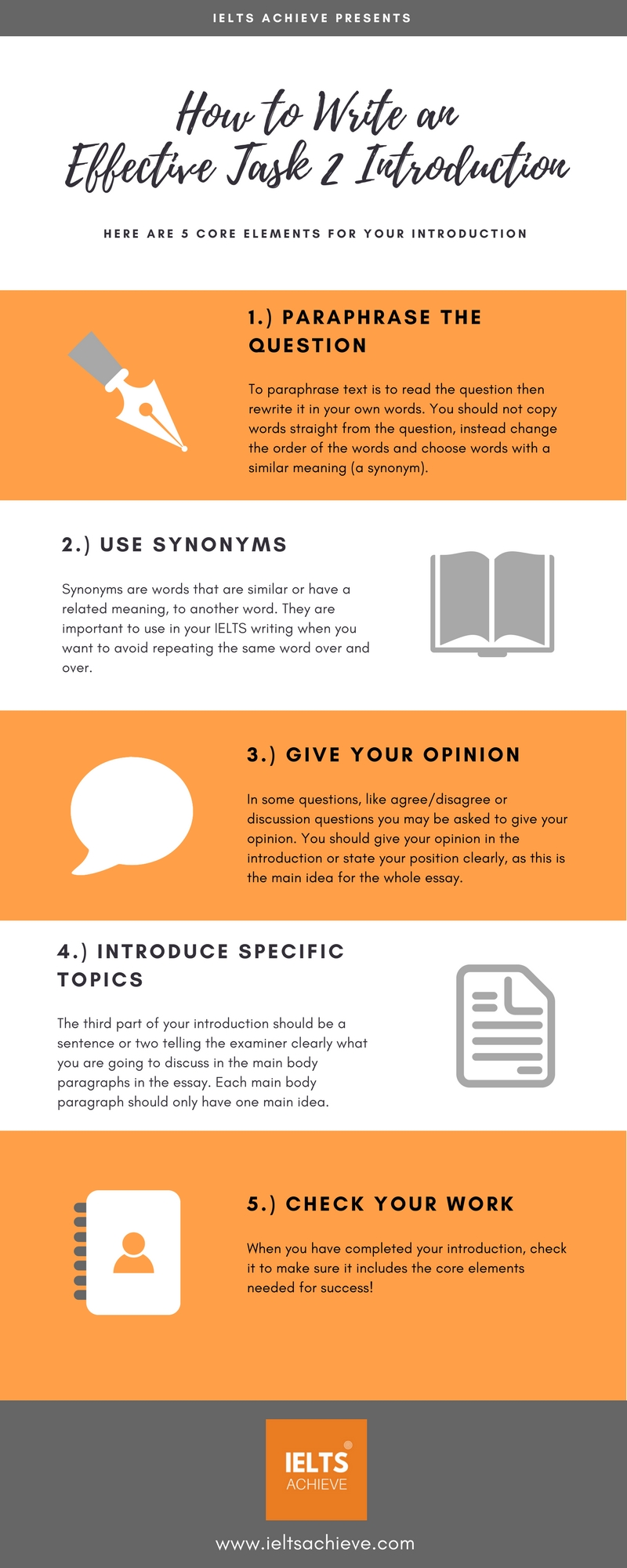 Topics For High School Essays The Five Steps To A Successful Ielts Writing Task  Essay Introduction Essay About Healthy Diet also Apa Format For Essay Paper How To Write An Introduction  Ielts Achieve High School Essay Topics
