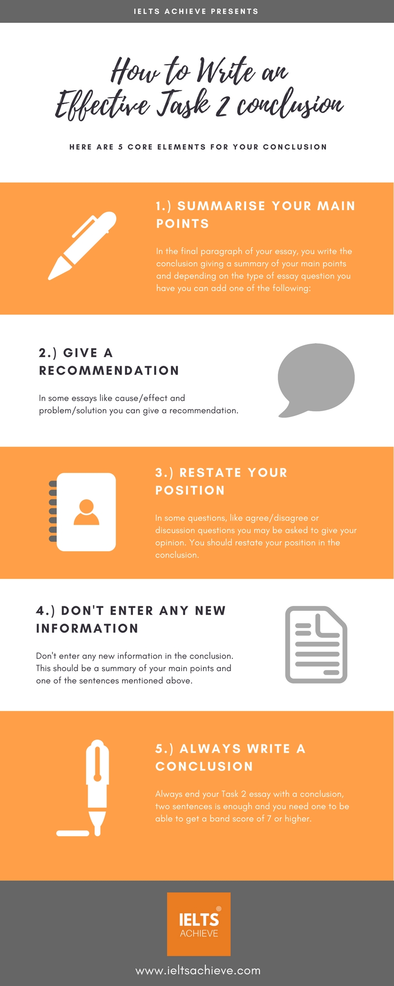how to write an effective task 2 conclusion