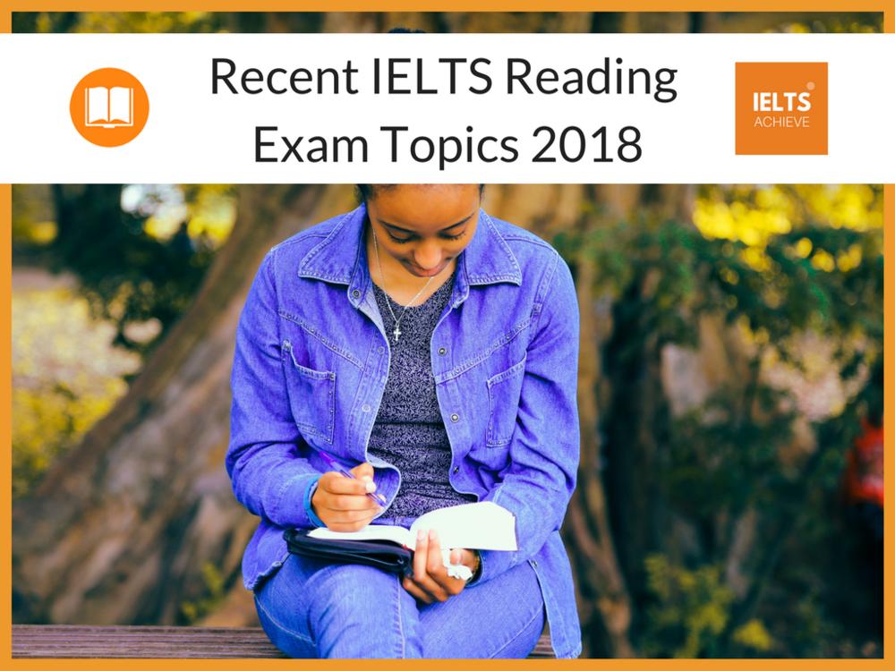 Recent IELTS exam topics