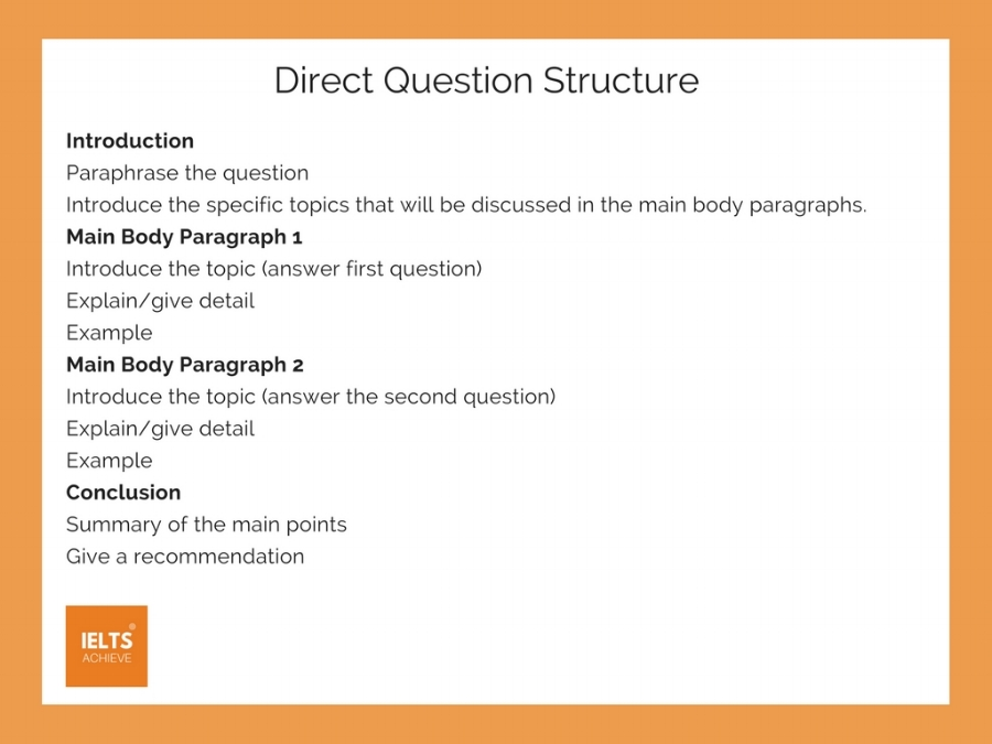How To Write A Direct Question Essay Ielts Achieve