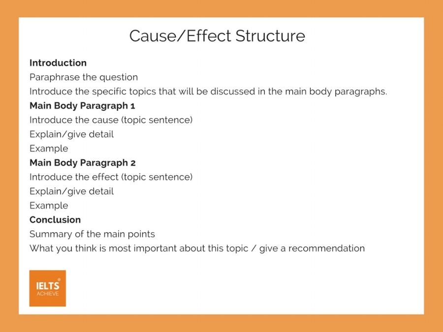 How To Write A Cause And Effect Essay — IELTS ACHIEVE