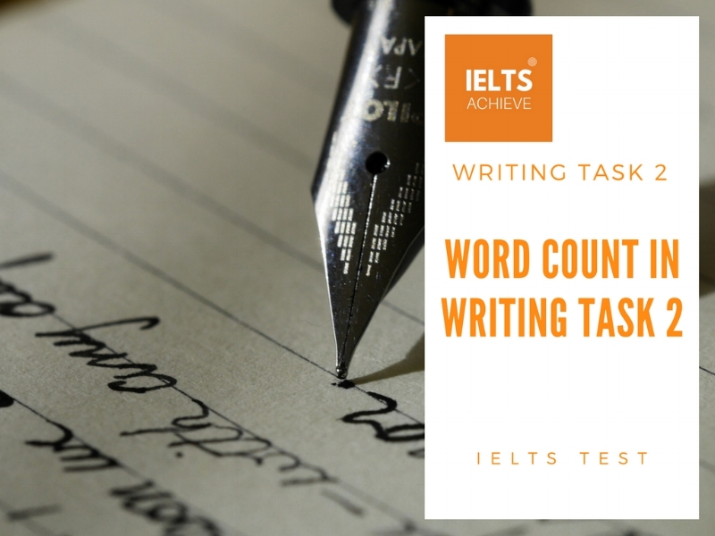 The word count in writing task 2