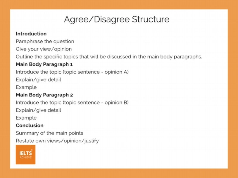 How To Write An Agree Or Disagree Essay  Ielts Achieve Ielts Agree Or Disagree Essay Structure