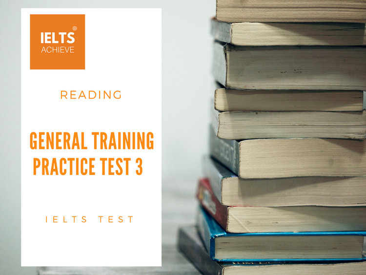 General Training Reading Practice Test 3 - Section 1 — IELTS